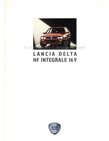 1992 LANCIA DELTA HF INTEGRALE 16V BROCHURE GERMAN