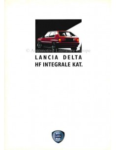 1990 LANCIA DELTA HF INTEGRALE KAT. BROCHURE GERMAN