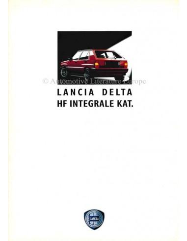 1990 LANCIA DELTA HF INTEGRALE KAT. BROCHURE GERMAN