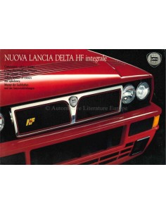 1991 LANCIA DELTA HF INTEGRALE FARBEN & INNENAUSSTATTUNG PROSPEKT