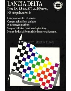 1988 LANCIA DELTA FARBEN & INNENAUSSTATTUNG PROSPEKT