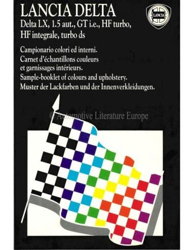 1988 LANCIA DELTA COLOURS & INTERIOR BROCHURE