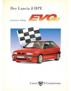 1996 LANCIA DELTA HPE EVO 500 BROCHURE GERMAN