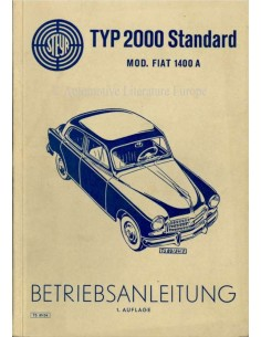 1954 STEYR TYP 2000 ONWER'S MANUAL GERMAN