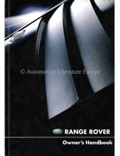2002 RANGE ROVER OWNERS MANUAL ENGLISH