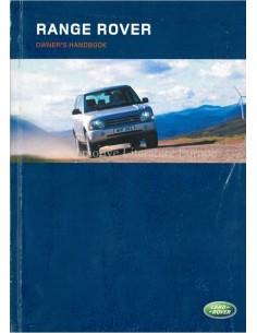 2003 RANGE ROVER BETRIEBSANLEITUNG ENGLISCH