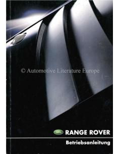 2001 RANGE ROVER BETRIEBSANLEITUNG ENGLISCH