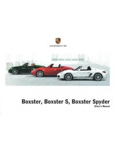2011 PORSCHE BOXSTER & S & SPYDER BETRIEBSANLEITUNG ENGLISCH