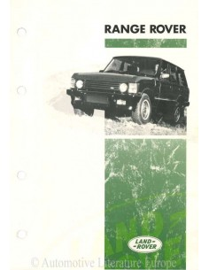 1993 RANGE ROVER OWNERS MANUAL DUTCH