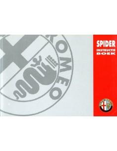 1995 ALFA ROMEO SPIDER INSTRUCTIEBOEKJE NEDERLANDS
