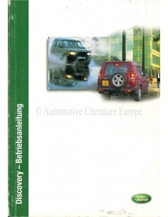 2002 LAND ROVER DISCOVERY 2 OWNERS MANUAL GERMAN