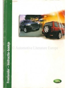 2002 LAND ROVER FREELANDER OWNERS MANUAL DUTCH