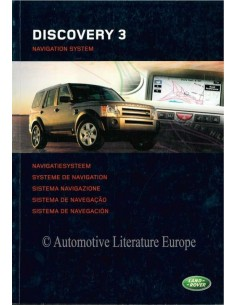 2004 LAND ROVER DISCOVERY 3 NAVIGATION SYSTEM OWNERS MANUAL DUTCH