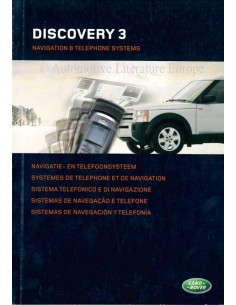 2005 LAND ROVER DISCOVERY 3 NAVIGATION & TELEPHONE SYSTEMS OWNERS MANUAL DUTCH