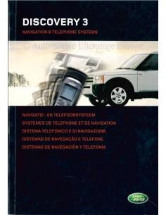 2005 LAND ROVER DISCOVERY 3 NAVIGATIONS- UND TELEFONSYSTEM OWNERS MANUAL NIEDERLÄNDISCH
