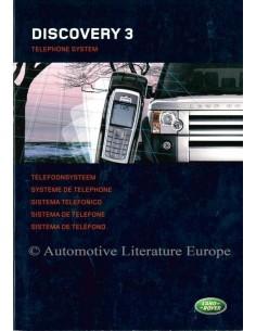 2005 LAND ROVER DISCOVERY 3 TELEFONSYSTEM BETRIEBSANLEITUNG NIEDERLÄNDISCH