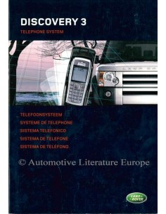 2005 LAND ROVER DISCOVERY 3 TELEPHONE SYSTEM OWNERS MANUAL DUTCH