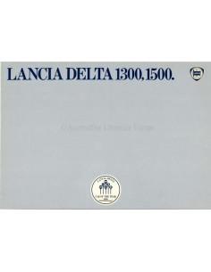 1980 LANCIA DELTA 1300, 1500 BROCHURE ENGELS