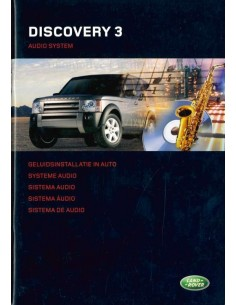 2004 LAND ROVER DISCOVERY 3 AUDIO SYSTEM OWNERS MANUAL DUTCH