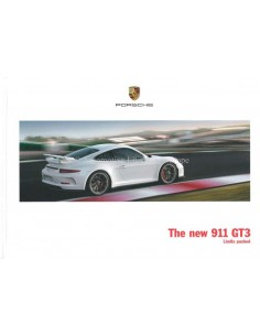 2014 PORSCHE 911 GT3 HARDBACK BROCHURE ENGLISH