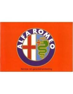 1993 ALFA ROMEO MAINTENANCE MANUAL DUTCH