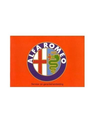 1993 ALFA ROMEO ONDERHOUDSBOEKJE NEDERLANDS