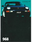 1994 PORSCHE 968 HARDCOVER BROCHURE DUITS