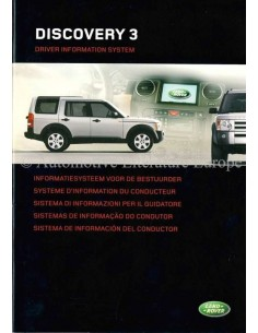 2004 LAND ROVER DISCOVERY 3 DRIVER INFORMATION SYSTEM OWNERS MANUAL DUTCH
