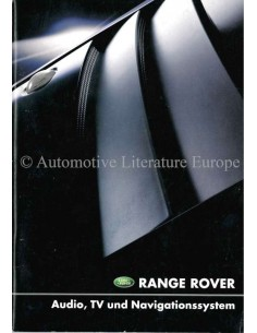 2001 RANGE ROVER AUDIO, TV & NAVIGATIONSSYSTEM BETRIEBSANLEITUNG DEUTSCH