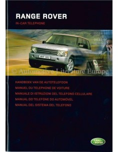 2004 RANGE ROVER IN-CAR TELEPHONE OWNERS MANUAL DUTCH