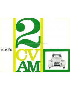 1963 CITROEN 2CV/AM BROCHURE FRENCH