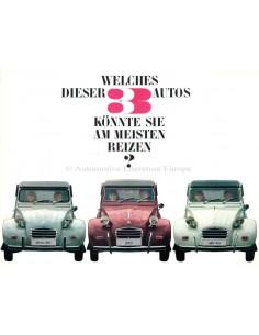 1966 CITROEN 2CV BROCHURE DUITS