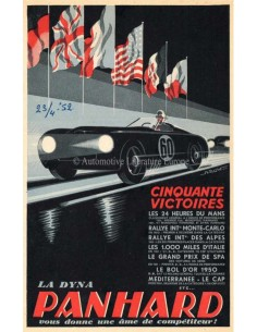 1952 PANHARD DYNA BROCHURE FRENCH