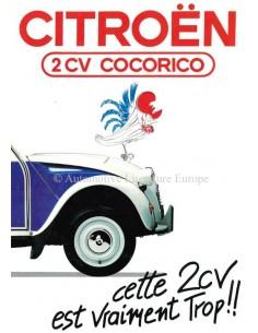 1986 CITROEN 2CV COCORICO BROCHURE FRENCH