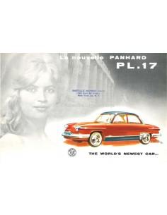 1960 PANHARD PL.17 BROCHURE ENGELS