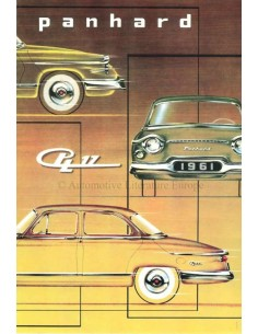 1961 PANHARD PL.17 BROCHURE DUTCH