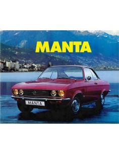1972 OPEL MANTA PROSPEKT NIEDERLÄNDISCH