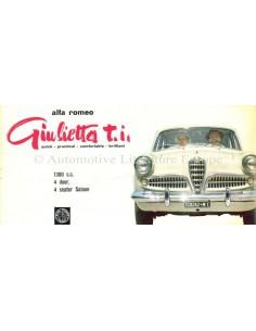 1958 ALFA ROMEO GIULIETTA T.I. BROCHURE ENGLISH