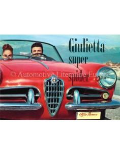 1958 ALFA ROMEO GIULIETTA SUPER SPIDER BROCHURE ENGLISH