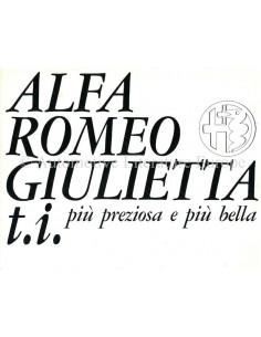 1964 ALFA ROMEO GIULIETTA T.I. BROCHURE ITALIAN