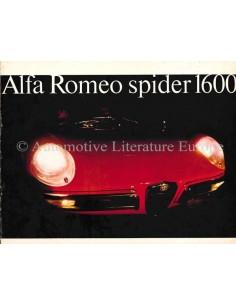 1966 ALFA ROMEO SPIDER 1600 BROCHURE ENGLISH