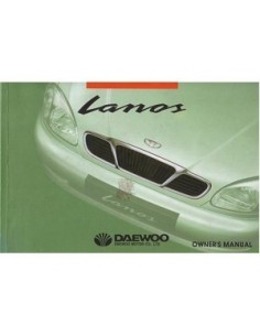 2000 DAEWOO LANOS OWNERS MANUAL HANDBOOK ENGLISH