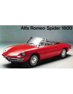 1966 ALFA ROMEO SPIDER 1600 BROCHURE FRENCH