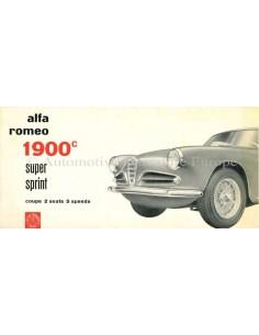 1957 ALFA ROMEO 1900C SUPER SPRINT PROSPEKT ENGLISCH