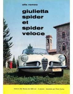 1960 ALFA ROMEO GIULIETTA SPIDER & SPIDER VELOCE BROCHURE FRENCH