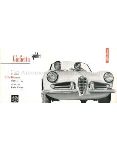 1957 ALFA ROMEO GIULIETTA SPIDER BROCHURE ENGLISH