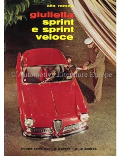 1960 ALFA ROMEO GIULIETTA SPRINT & SPRINT VELOCE BROCHURE FRENCH