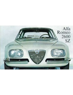 1965 ALFA ROMEO 2600 SZ BROCHURE GERMAN