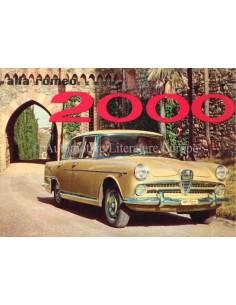 1958 ALFA ROMEO 2000 BERLINA PROSPEKT ENLISCH