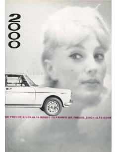 1961 ALFA ROMEO 2000 BERLINA BROCHURE GERMAN